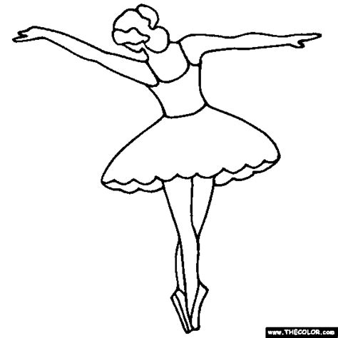 coloring pages ballerina ballerina and ballet dancer online coloring pages page 1