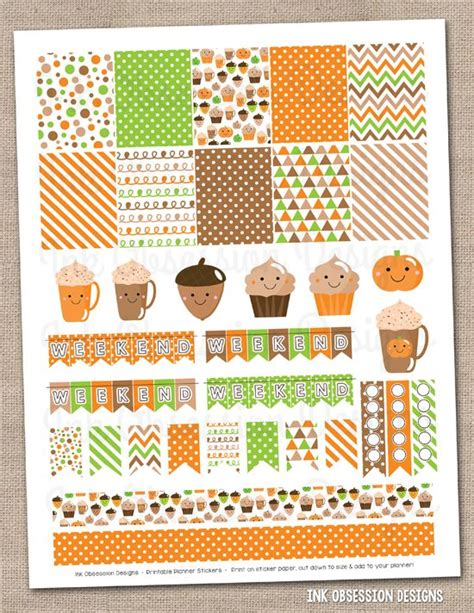 printable stickers pdf happy printable planner stickers and fall on pinterest
