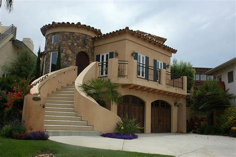 california castle house with grand stairway encinitas
