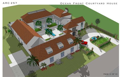 spanish hacienda house plans uncategorized ocean front courtyard house page hacienda