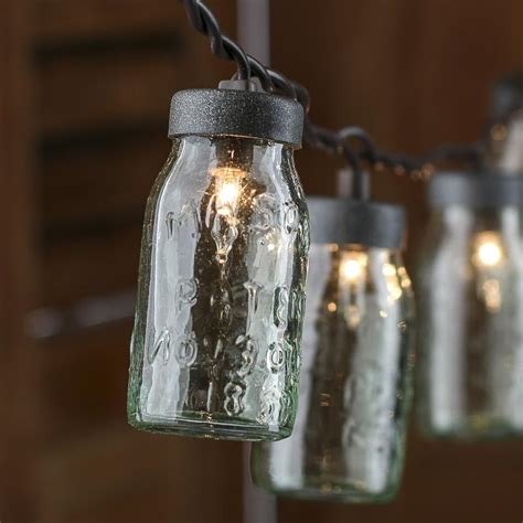mason jar lights small glass jar light covers lighting and winter crafts