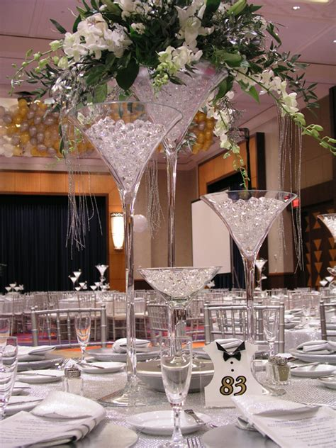 martini glass centerpiece ideas martini glass wedding