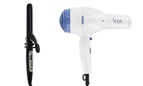 Solia Hair Dryer solia ceramic curling iron or hair dryer groupon