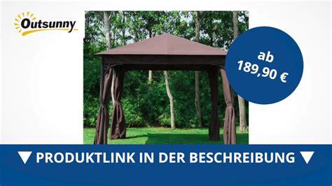 pavillon kaufen 3x3 outsunny luxus pavillon partyzelt braun 3x3 m direkt