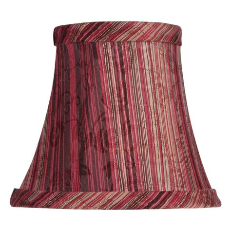 Burgundy Chandelier Livex S312 Striped Silk Bell Clip Chandelier Shade In Burgundy Shades At Hayneedle