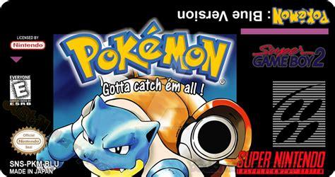 super gameboy mod pokemon blue snes label for super gameboy mod by
