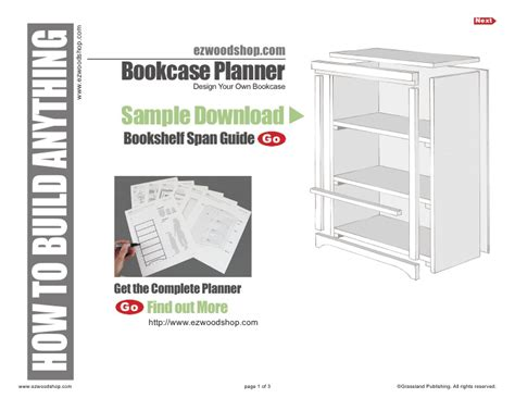 bookcase plans guide to shelf span