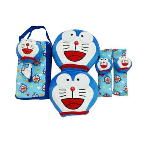 Tempat Tisu Doraemon Blue jual centralseat kepala doraemon set aksesoris interior mobil blue 3 set harga