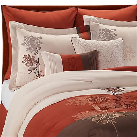 bed bath beyond bedding jacklyn spice bedding ensemble bed bath beyond