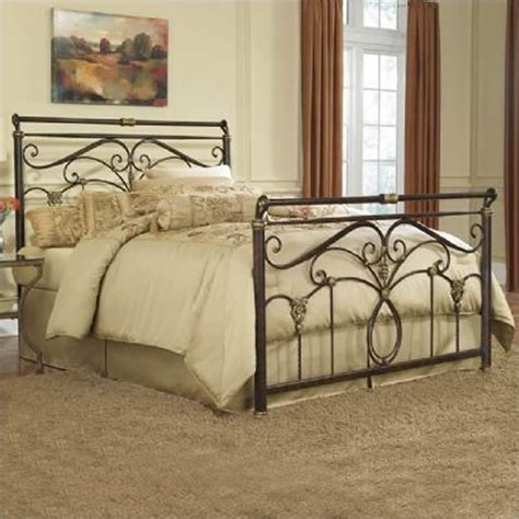 metal sleigh bed lucinda metal sleigh bed in marbled russet finish b1183x