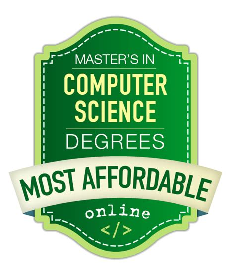 Mba And Computer Science Degree by 15 Most Affordable Master S In Computer Science