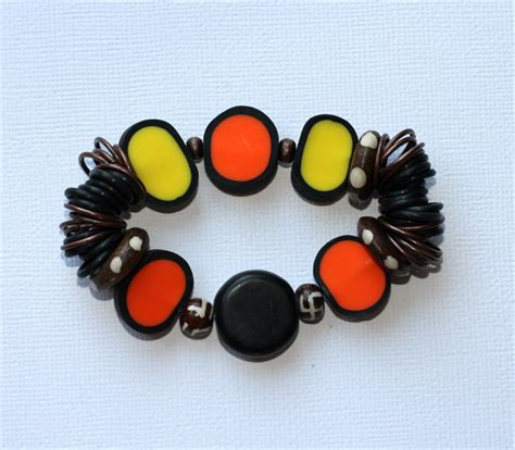 rubber sts for polymer clay polymer clay wire bone and rubber stretch bracelet