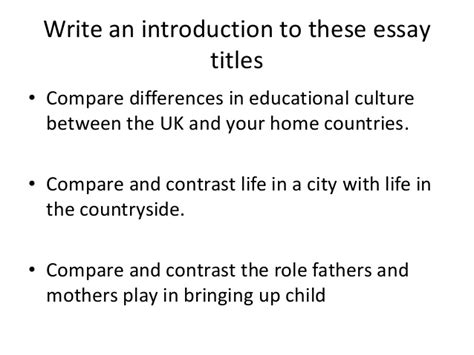 Title Ideas For Compare And Contrast Essays by Compare And Contrast Essay Title Ideas Reportspdf868 Web Fc2