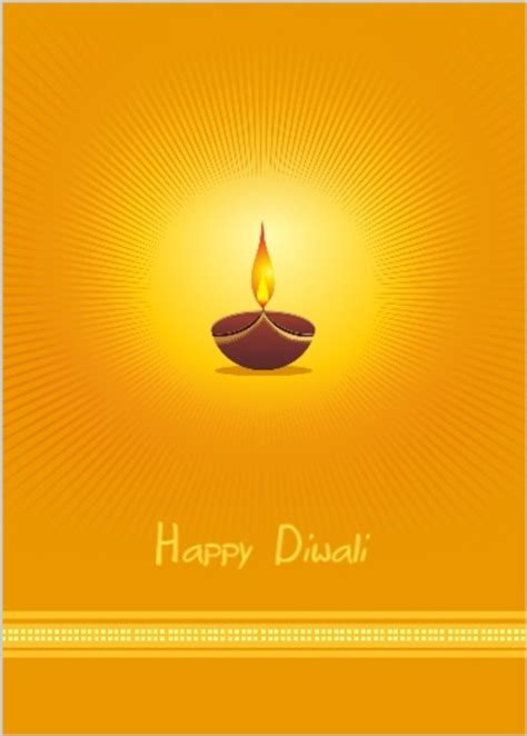 diwali greeting card template orange diya l diwali greeting card diwali cards