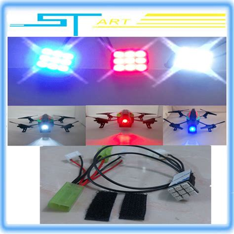 Led Drone Headl Lights For Parrot Ar Drone 2 0 Q15 Termurah led light rc drone blue white color flight parrot 2 0 headlights power patch cord free