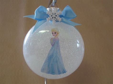 handmade disney frozen elsa   glass ornament
