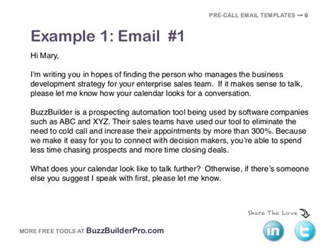 Business Development Email Template cold emailing templates for prospecting
