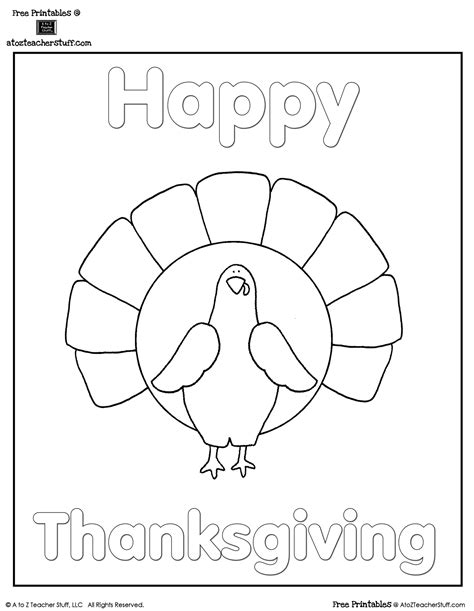 teacher coloring pages for thanksgiving turkey coloring sheet a to z teacher stuff printable