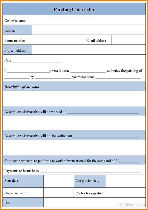 Blank Contract Forms Mughals Forms Free Templates