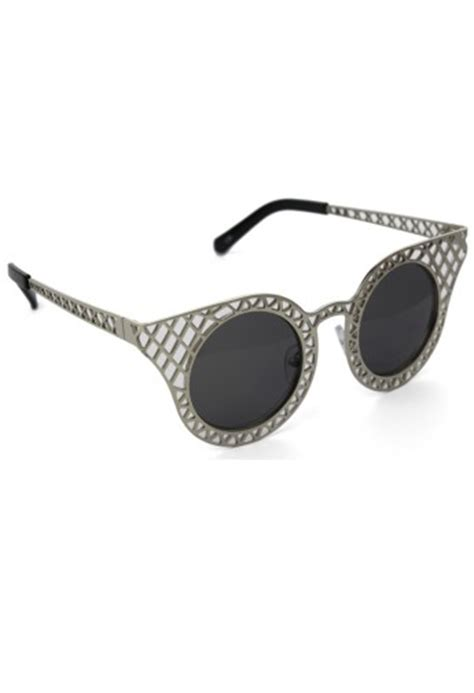 Cut Out Frame Cat Eye Sunglasses cut out metal frame cat eye sunglasses retro and