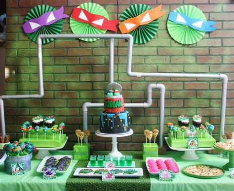 Turtle Themed Birthday Supplies by And Everything Sweet Mutant Turtle