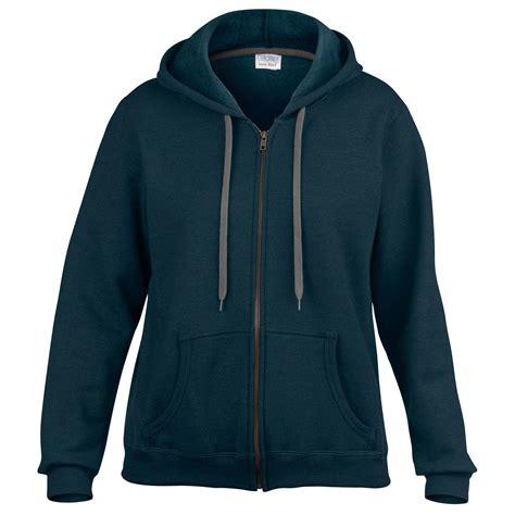 Gildan Jaket new gildan womens vintage zip up hoodie sweatshirt