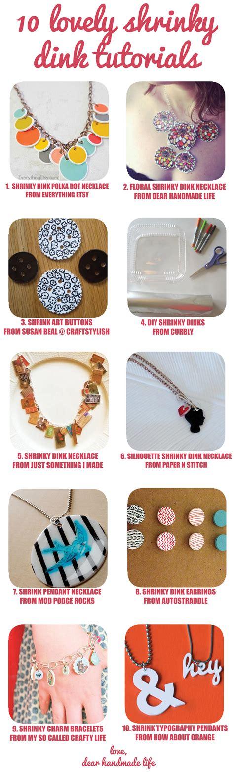 diy craft tutorial ten lovely shrinky dink tutorials dear handmade