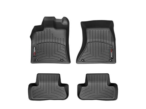 weathertech 174 floor mats floorliner for audi q5 2009 2017 black ebay