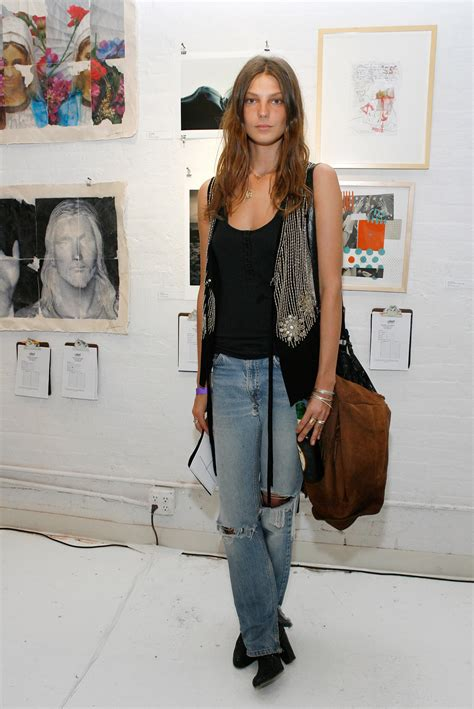 does daria werbowy has long layers in her haircut daria werbowy denim days pinterest daria werbowy