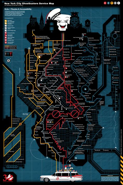 service nyc the nyc ghostbusters service map transforms the subway system with nostalgia