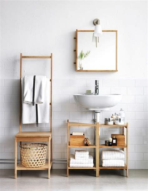 Bathroom Shelves Ikea 2 Ikea Ragrund Stands For Clever Bathroom Storage Pedestal Sink Storage Solutions Pinterest