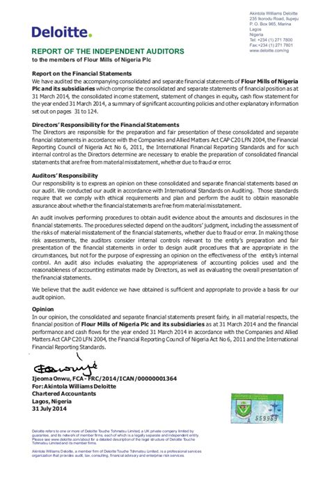 Section 12c Of The Income Tax Act by Flour Mills Nigeria Annual Report 2014