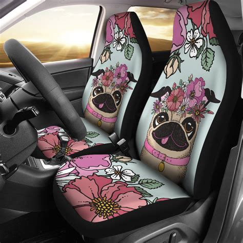 pug car seat floral pug car seat covers groove bags