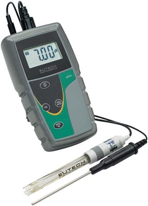 Eutech Ecoscan Temp 5 Temperature Meter 1 ec ph6 02k plus ecoscan ph 6 ph mv meter with single junction ph electrode atc probe ph