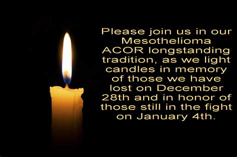 we light this candle in memory of mesothelioma my diary a great letter from maidstone