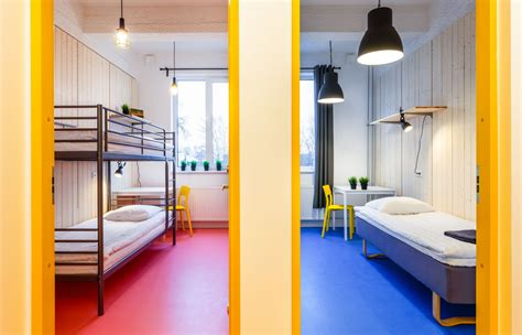what is a shared bathroom in a hostel two rooms with bunk beds and a shared bathroom hektor