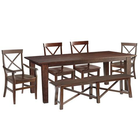 oklahoma farmhouse mango wood distressed 41 kitchen build your own mahogany brown dining collection dining