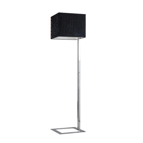 floor l square shade modern square fabric shade floor l in chrome finish
