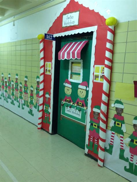santas house of games xmas door decoration best 25 santas workshop ideas on grotto ideas office decorations