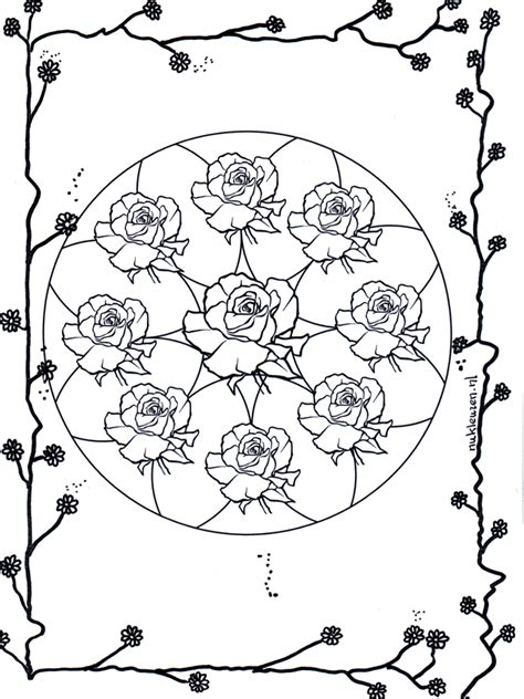 mandala coloring pages roses free coloring pages of mandala