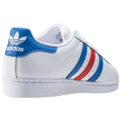 adidas superstar 2 tone stripes mens trainers in white