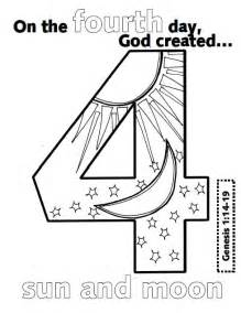 days of creation coloring pages look to him and be radiant creation numbers
