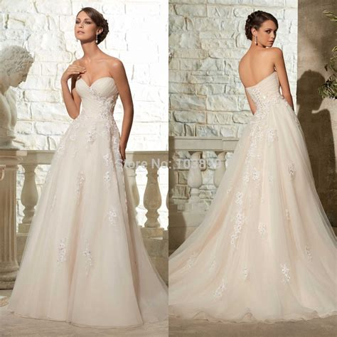 Lspowg65 Wedding Dress Quality new 2015 cheap bridal dress high quality formal floor length organza a line