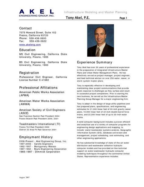 Sample Resume For Civil Engineer With One Year Experience