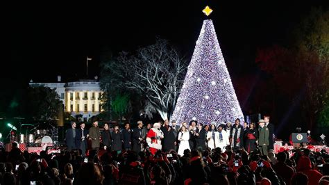 first family lights the national christmas tree