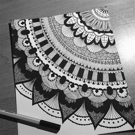 pattern drawing black original size of image 4019696 favim com