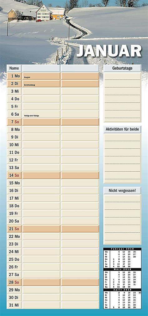 Kalendar 2018 Kaufen Planer F 252 R Zwei 2018 Kalender Kalender Bei Weltbild Ch