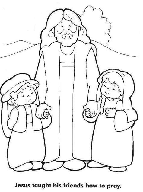 Jesus Loves The Little Children Coloring Page | Jesus