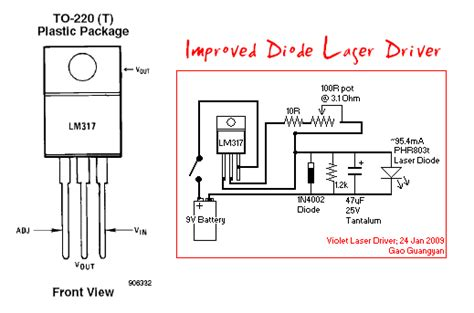ir laser diode driver circuit loneoceans laboratories project 405