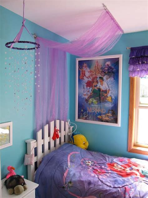 little mermaid room ideas easy tulle canopy tutorial little mermaid themed bedroom